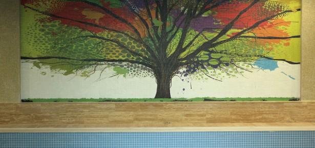 Hayat Park Baskı Cam Mozaik Çalışması